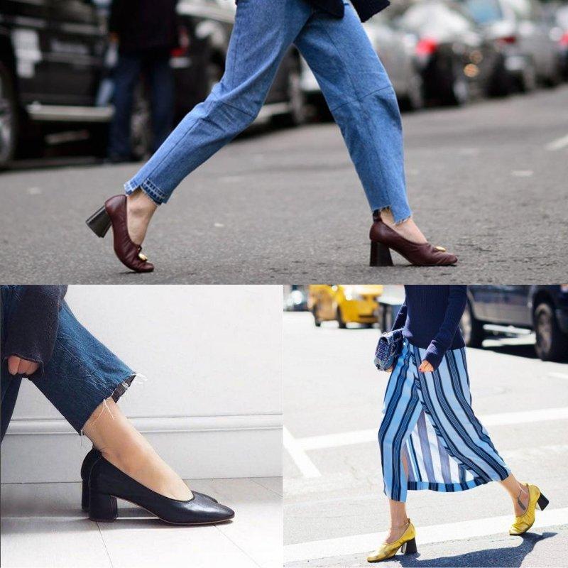 какая обувь в моде в 2018