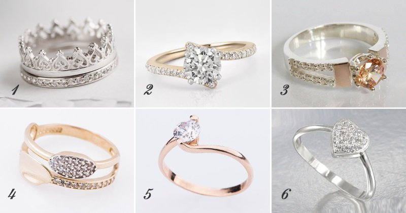 кольца с голубыми камнями