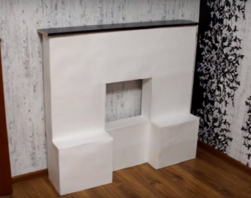как сделать камин из картонных коробок