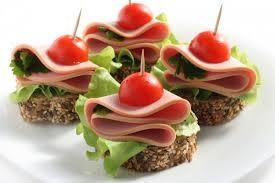 рецепты канапе , бутерброды для шведского стола