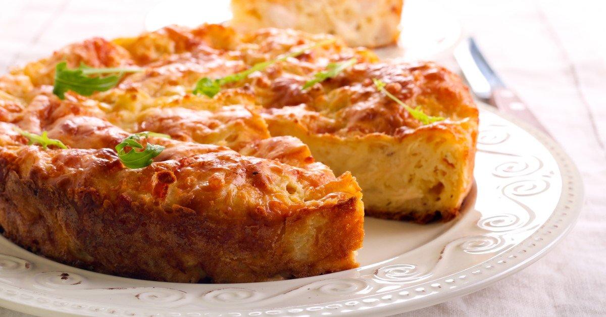 Быстрый пирог с капустой на кефире