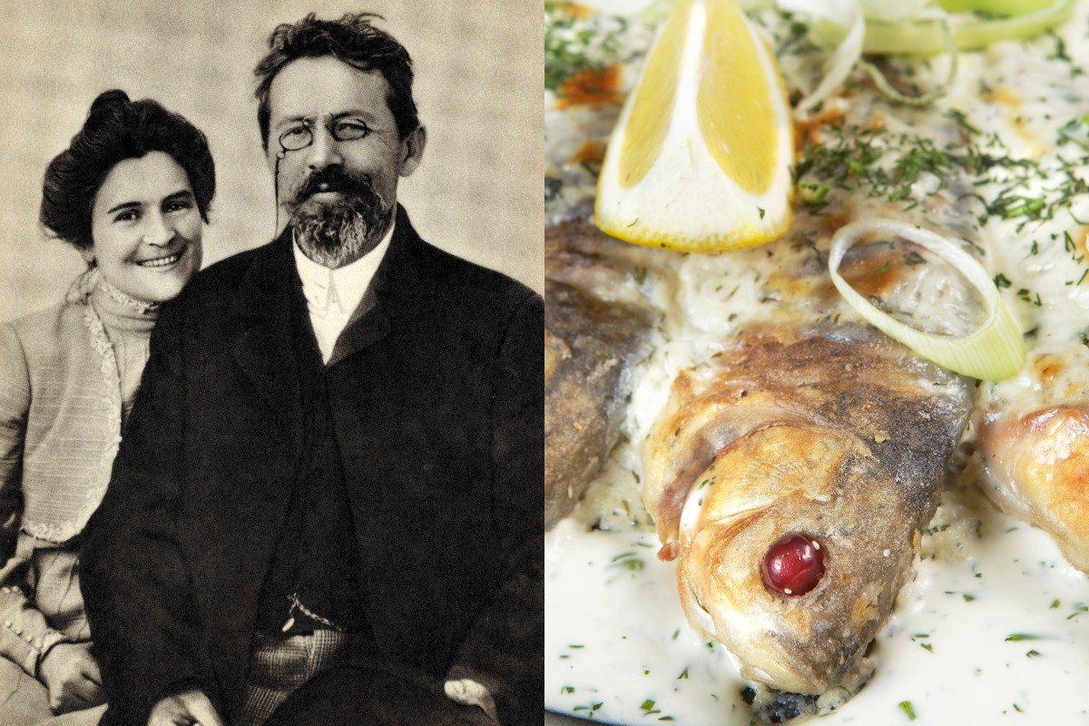 Супруг просит готовить ему любимые блюда Антона Чехова, рассказываю, что сегодня в меню