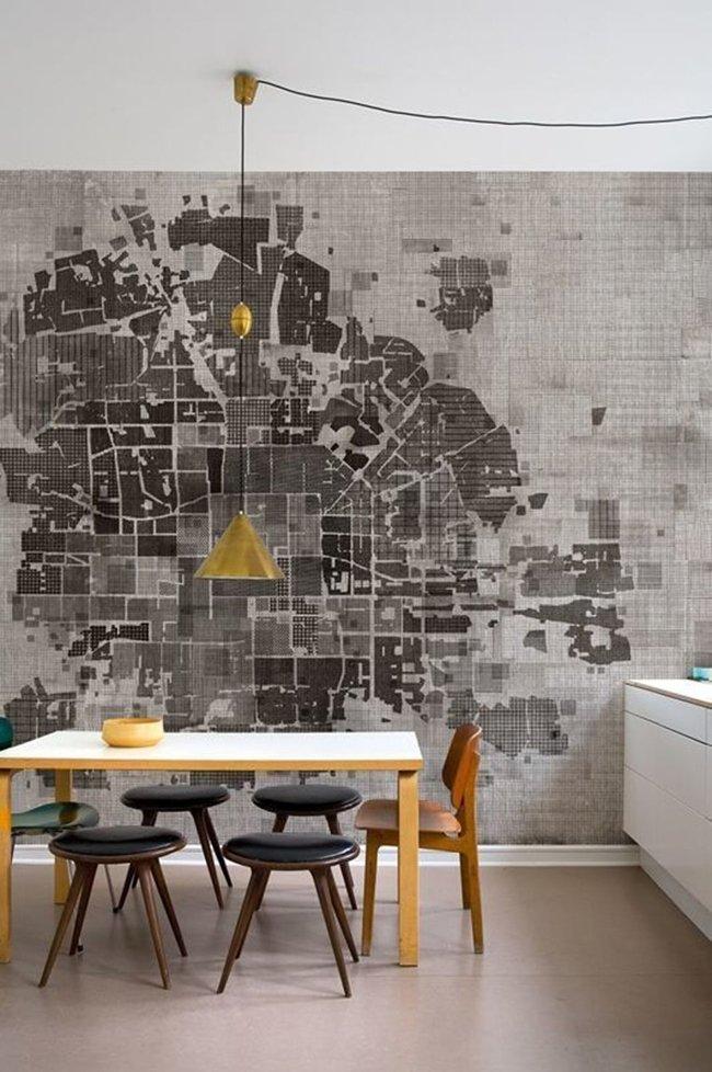 географическая карта вместо обоев