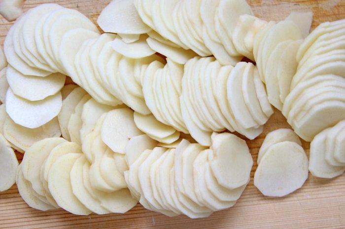 картофель на курином бульоне