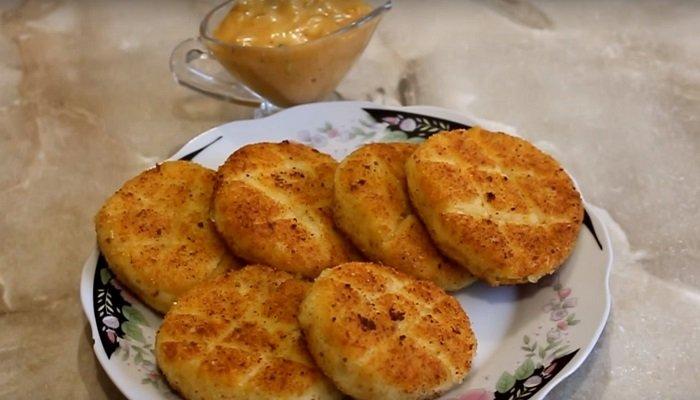 картофельные биточки с грибами