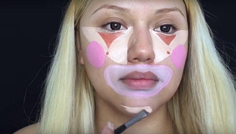 Схема лица для нанесения макияжа 2