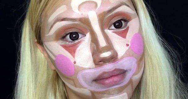 Когда она начала краситься, я подумал, что это макияж на Хэллоуин. Но увидев результат, я пришел в восторг!