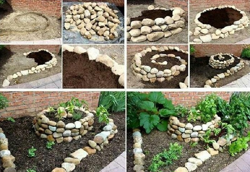 Как сделать бордюр своими руками из камней