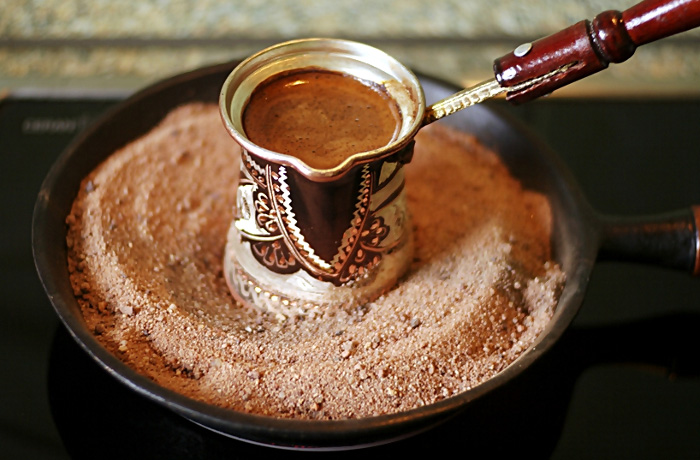 кофе по турецки на песке