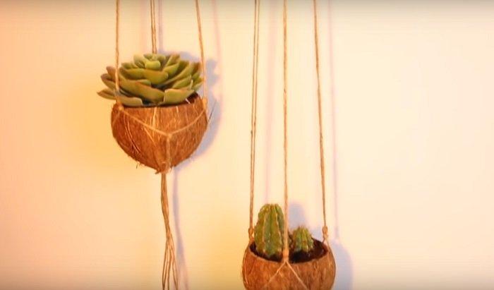 поделки из кокосовой скорлупы своими руками