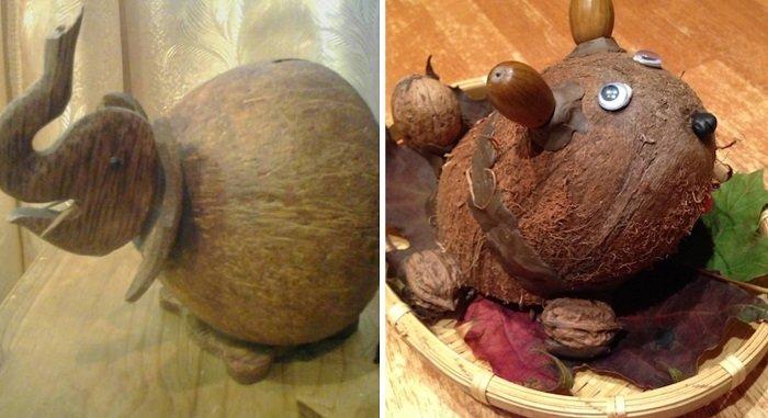 поделки из кокоса в школу