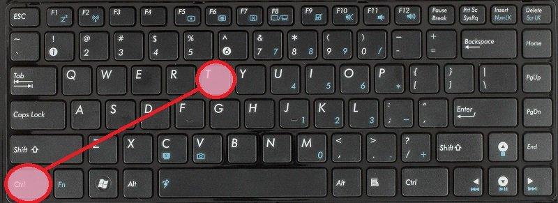 комбинации на клавиатуре