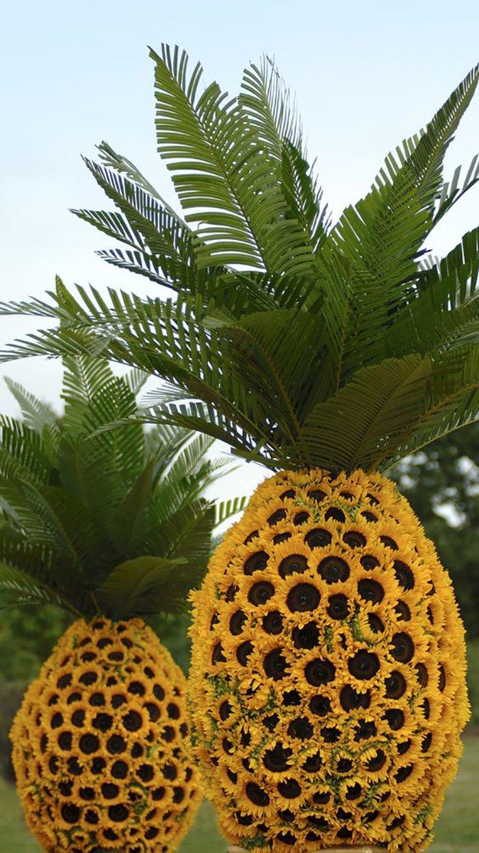 декор из искусственных цветов