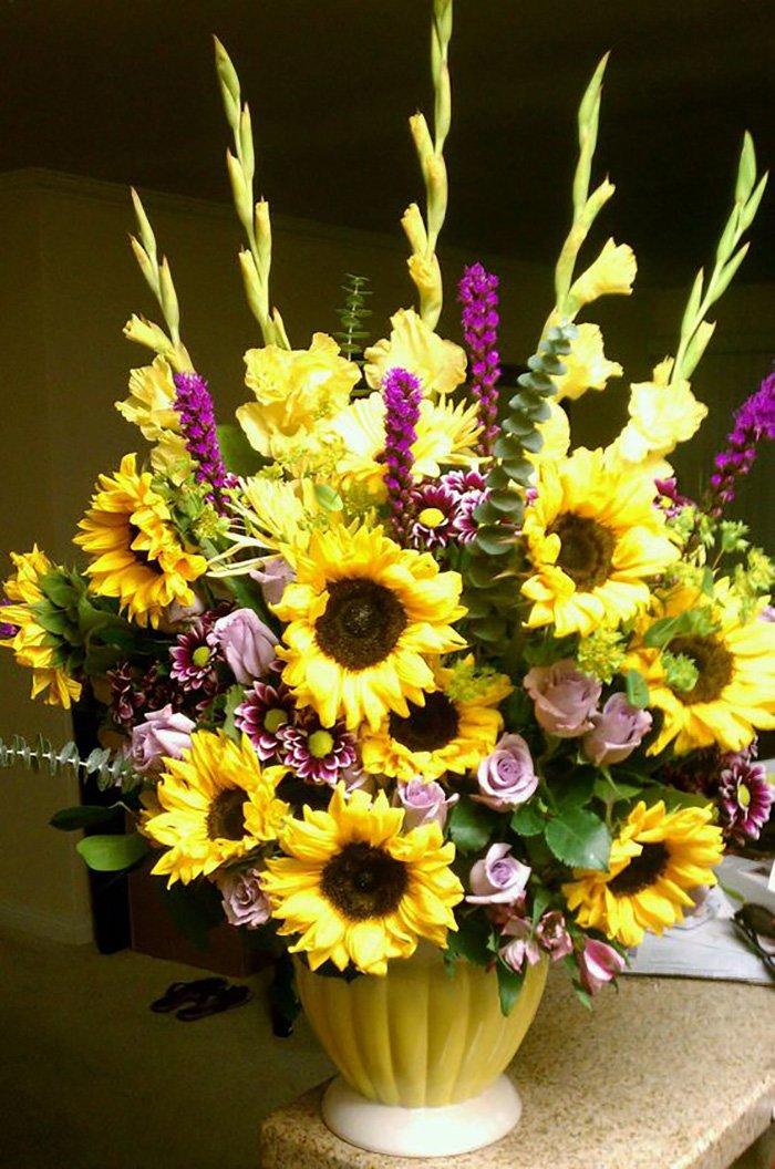 декор из засушенных цветов