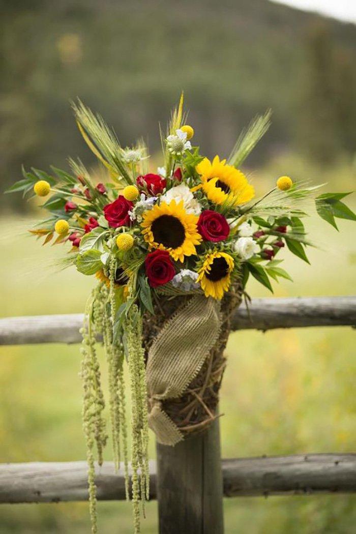 свадебный декор из цветов