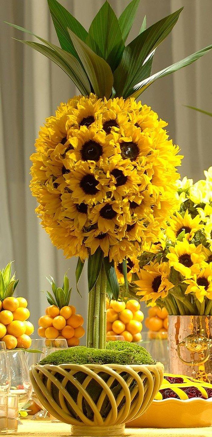 декор из вязаных цветов