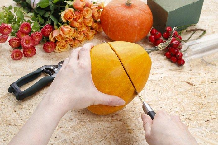 декор из тыквы на хеллоуин