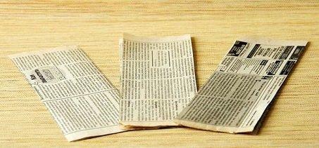 корзина из газет