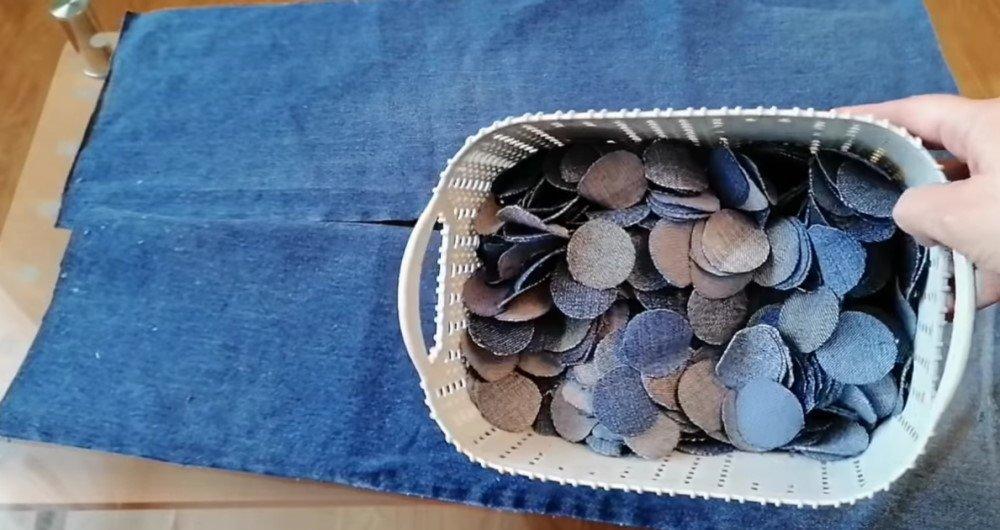 коврик из джинсов своими руками