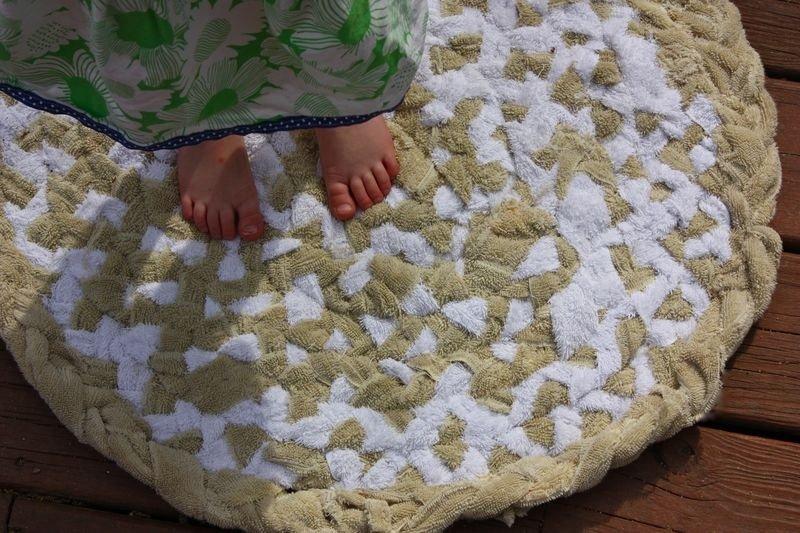 коврик из махровых полотенец