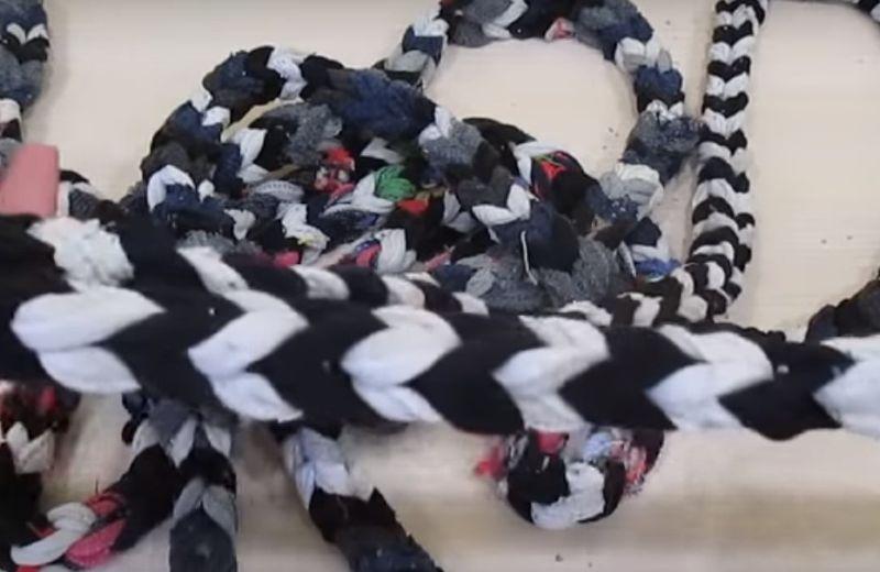 коврик из носков связать