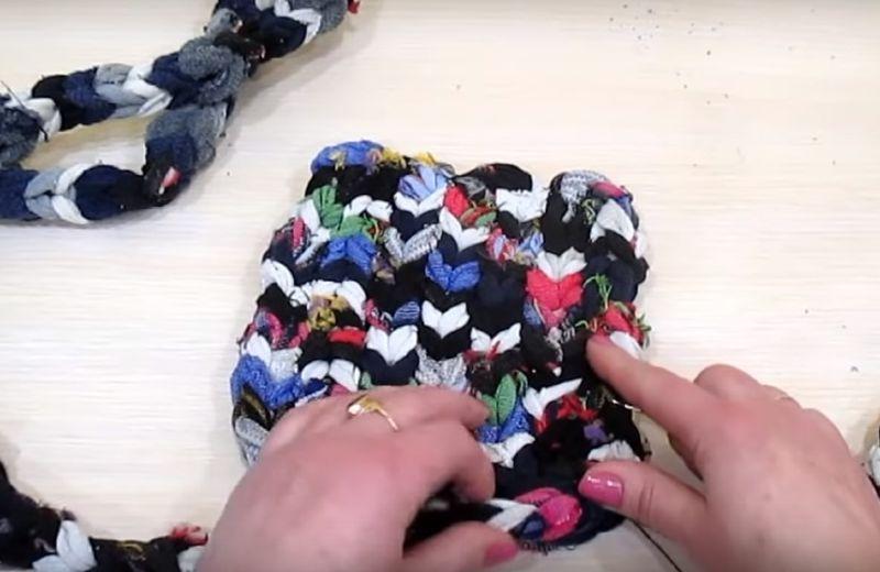 коврик из носков видео