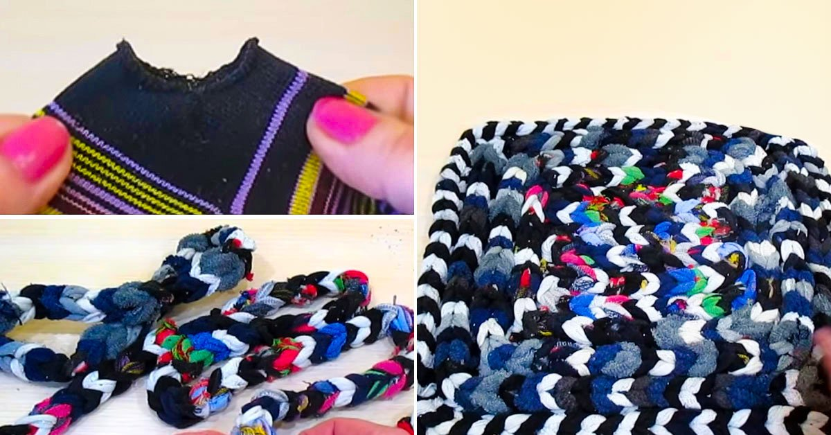 Как связать коврик из старых носков