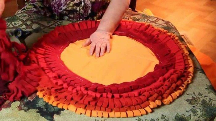 коврик своими руками из ниток