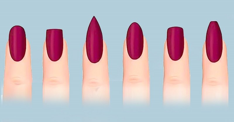 красивая форма ногтей фото