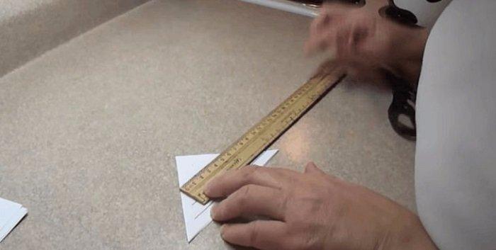 большая снежинка из бумаги