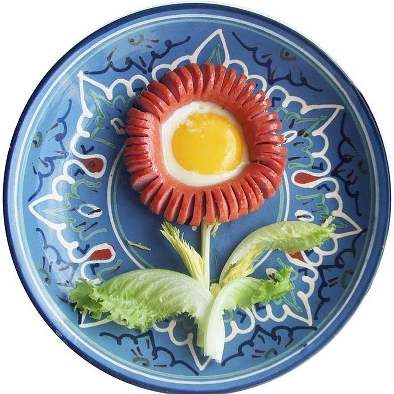Как сделать из сосиски цветок фото 138