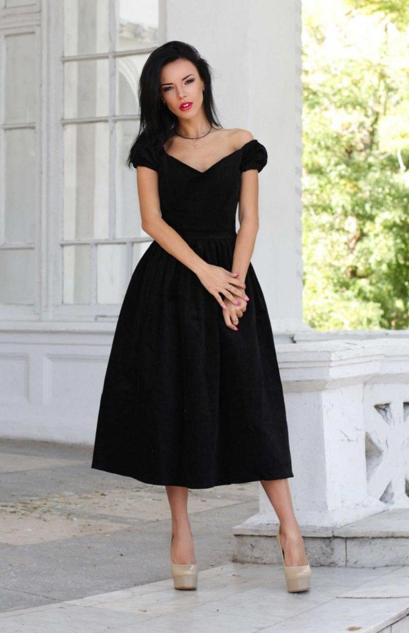 Как сшить черное платье просто так