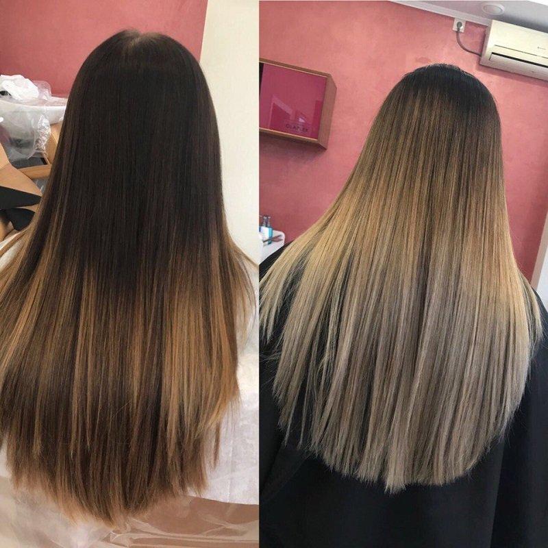 модное окрашивание волос в 2018