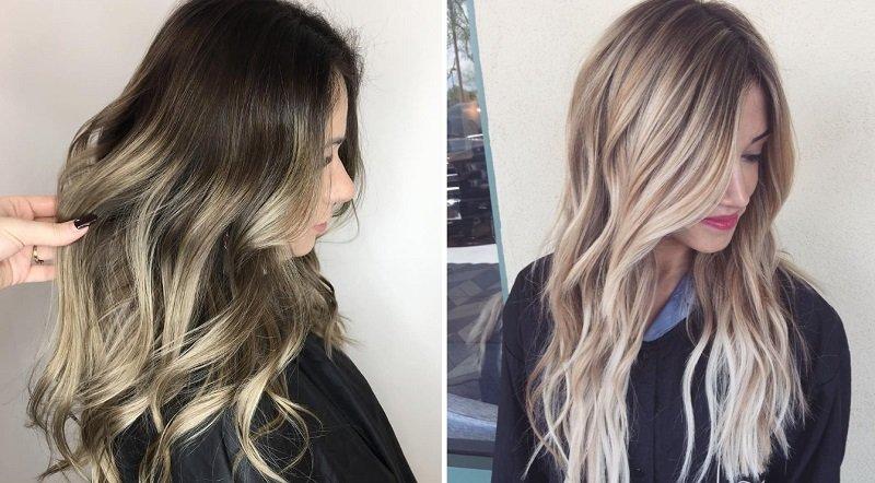 окрашивание волос 2018 фото
