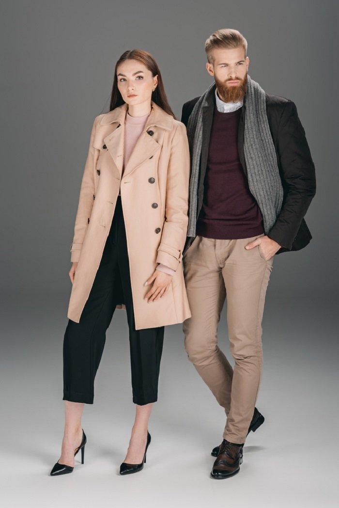 женское модное пальто кашемир
