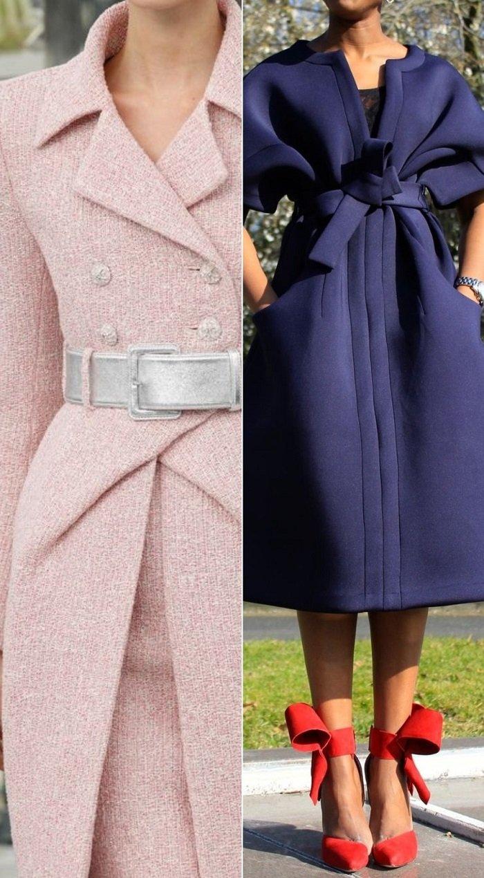 женское модное пальто большого размера