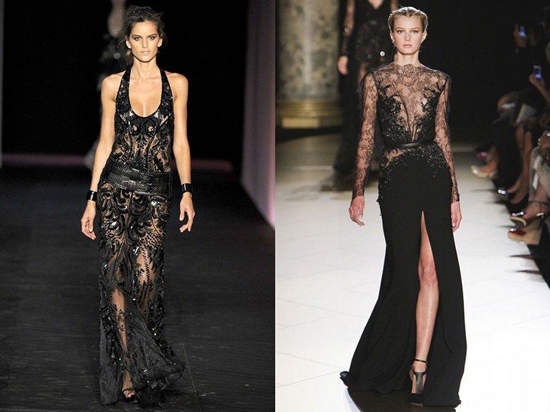 вечерние черные платья 2017