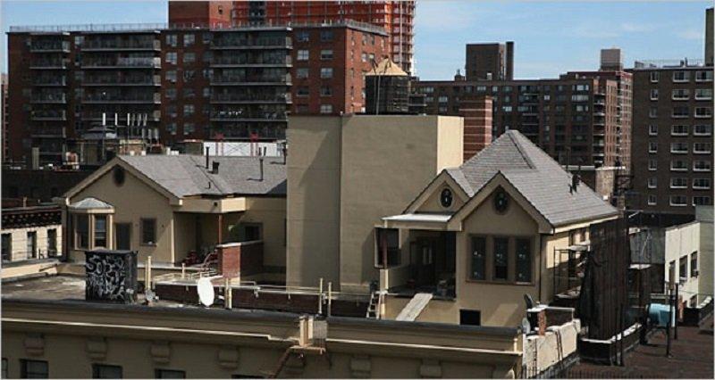 дом на крыше