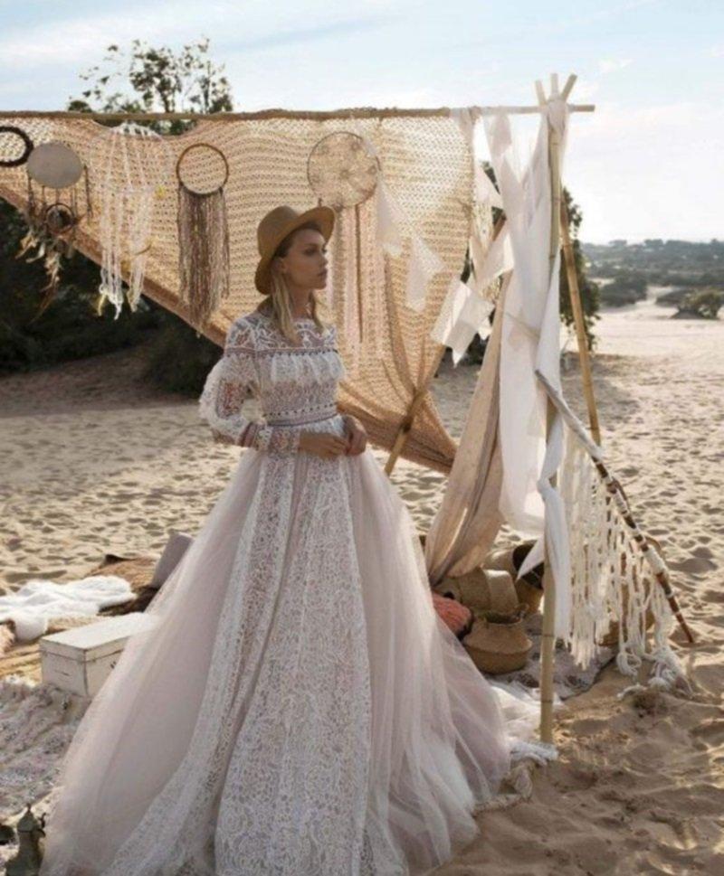 красивые свадебные платья не пышные