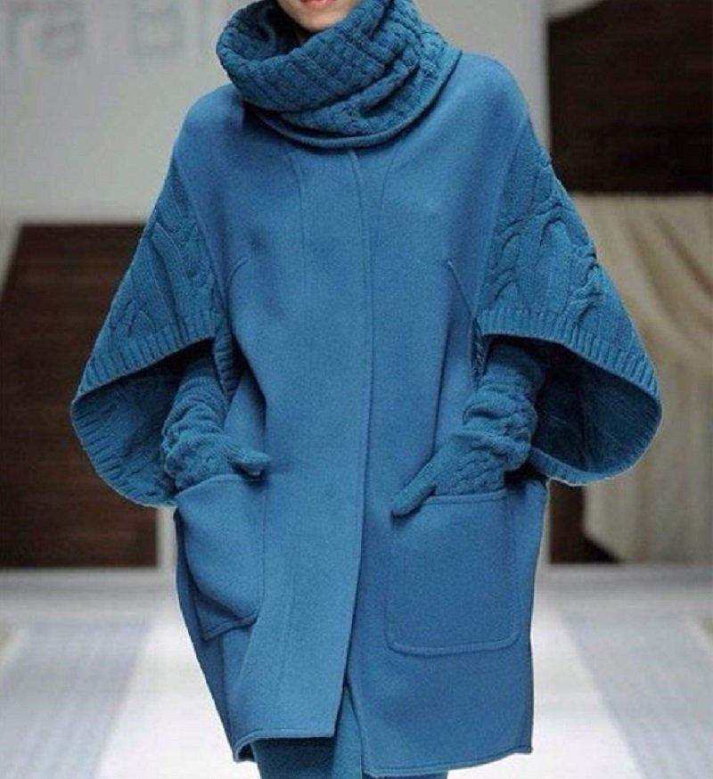 Трикотажное пальто своими руками