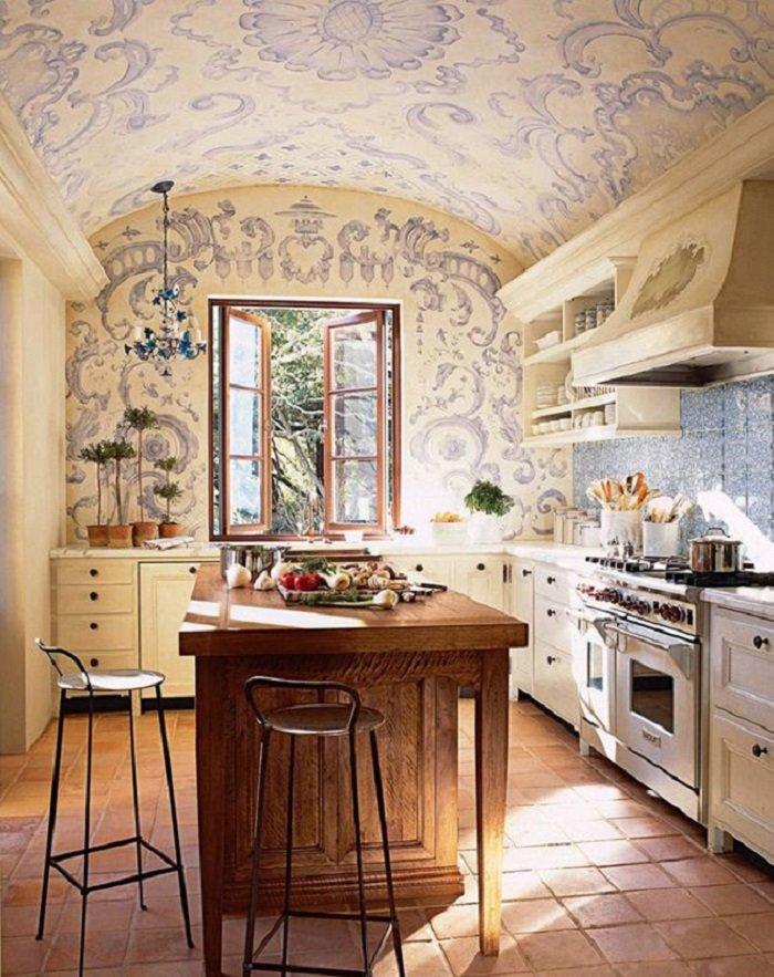красивый интерьер кухни-столовой