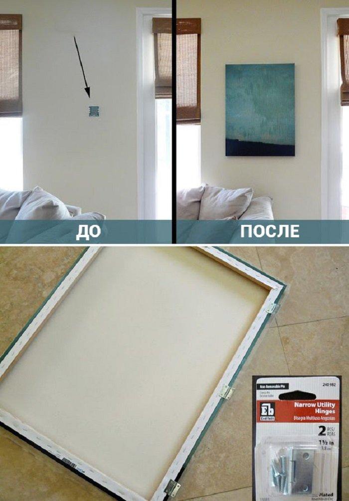 17 идей, как скрыть некрасивые предметы в доме… Просто, красиво и функционально!
