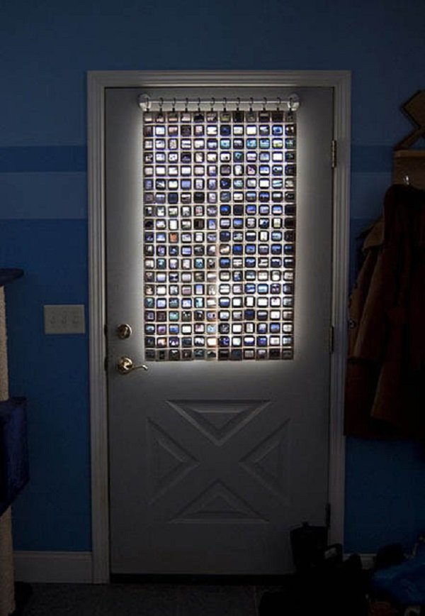 витраж на двери