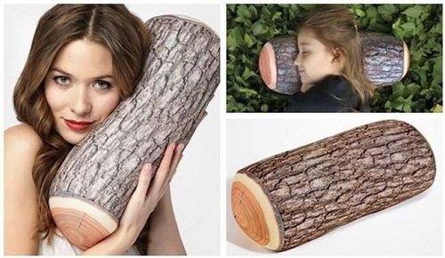 подушка в форме бревна