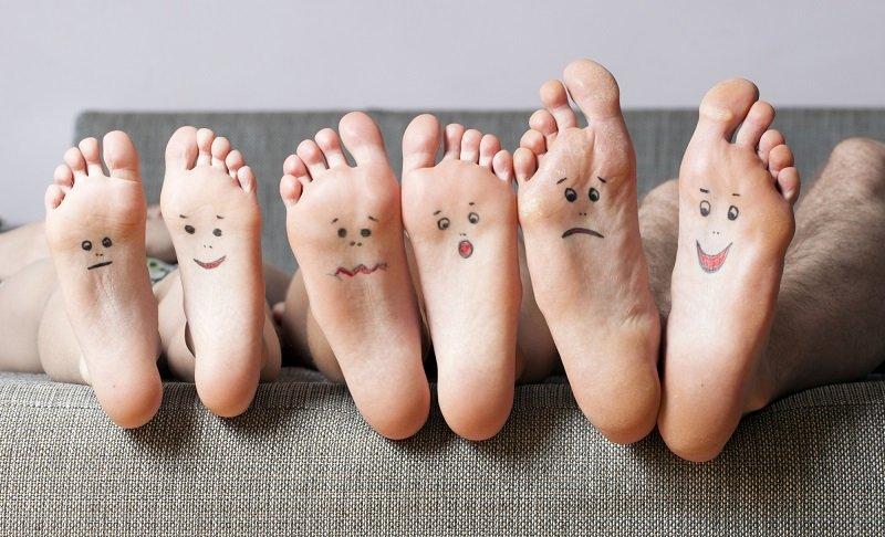зубная паста на ноги