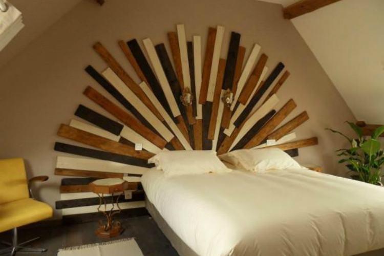 кровать из поддонов фото