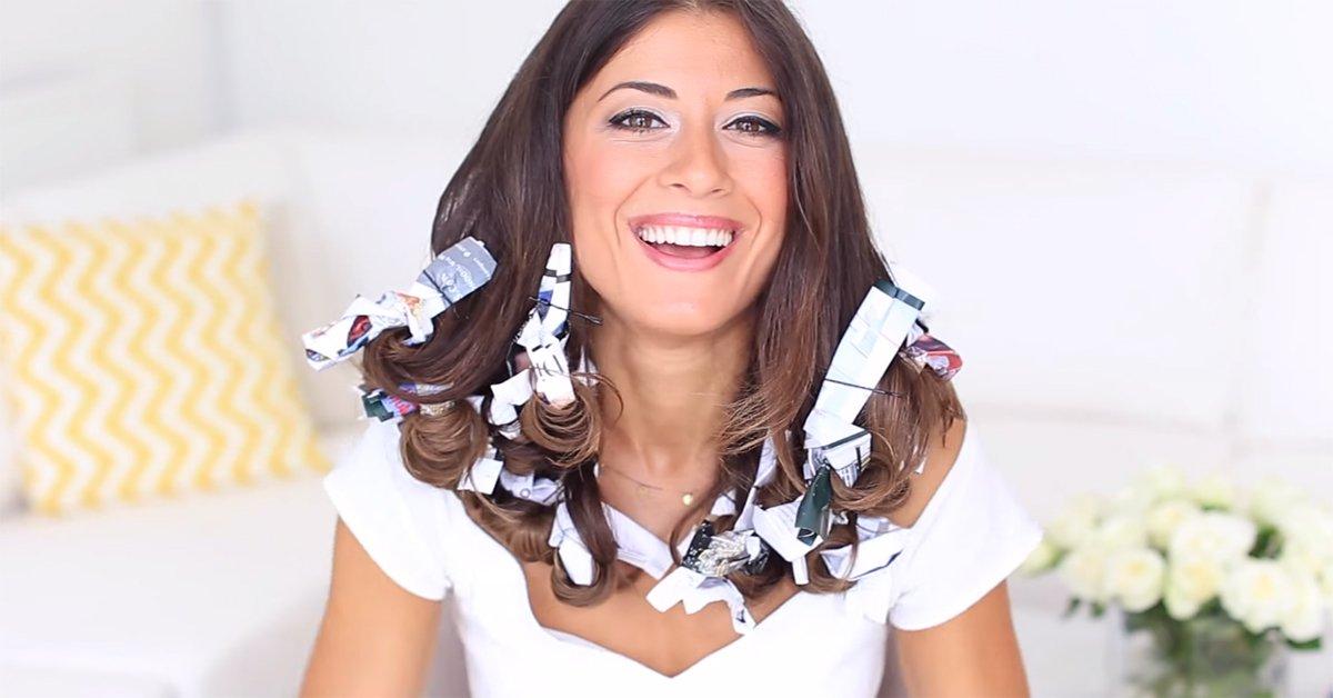 Она намотала волосы на страницы глянцевого журнала, а в итоге получила ошеломляющий результат!