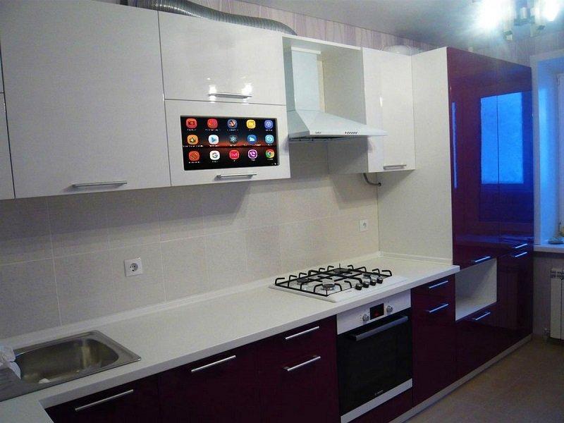 телевизор на кухне дизайн