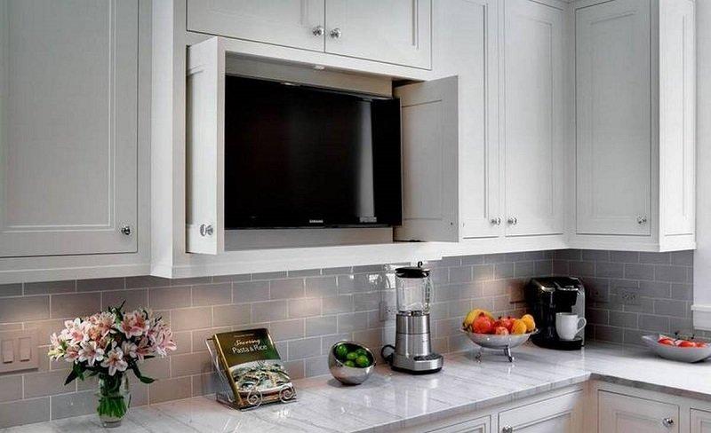 телевизор на кухне где разместить