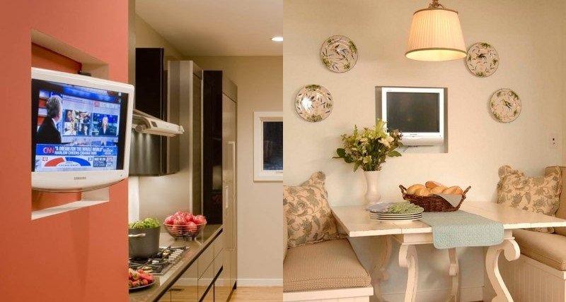 телевизор на кухне как разместить